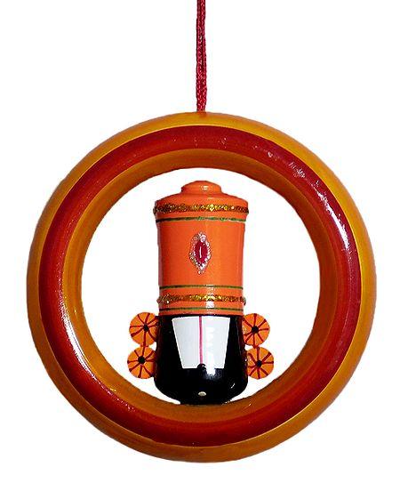 Balaji in Ring - Wooden Car Hanging
