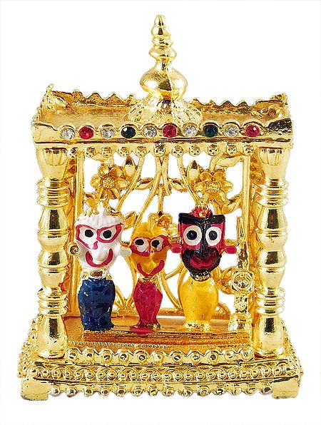 Jagannathdev, Balaram and Subhadra in a Temple