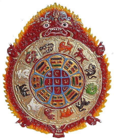 Kalachakra, The Astrlogical Wheel of Buddhism - Wall Hanging