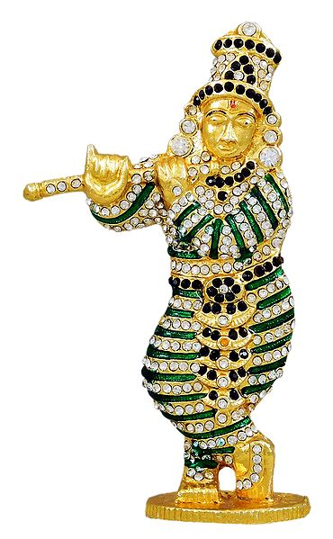 Stone Studded Krishna Statue