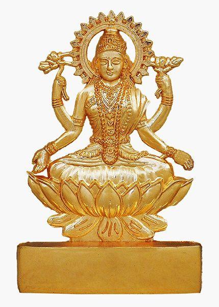 Metal Lakshmi for Car Dashboard