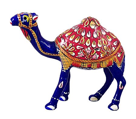 White Metal Multicolor Camel