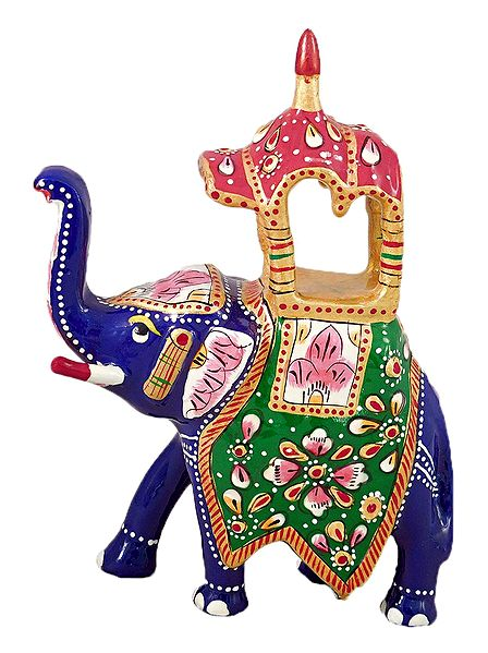 Colorful Royal Elephant With Howdah