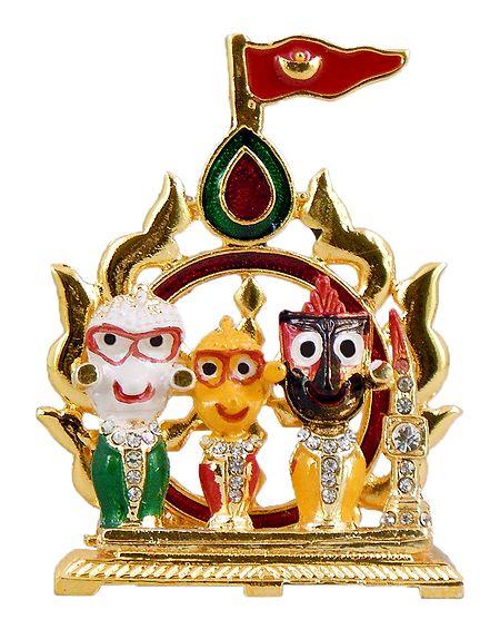 Jagannath,Balaram and Subhadra for Car Dashboard