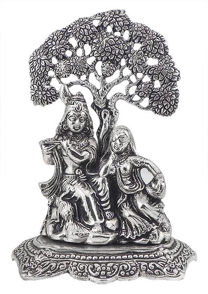 Radha Krishna Sitting Under Tree
