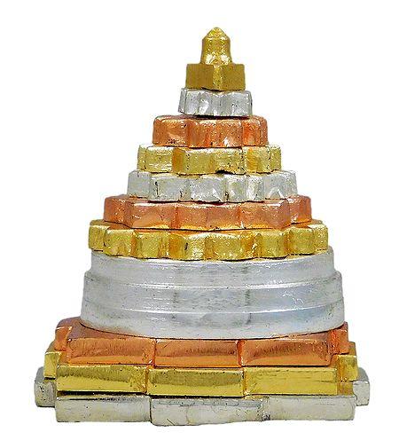 Metal Sri Yantra for Car Dashboard