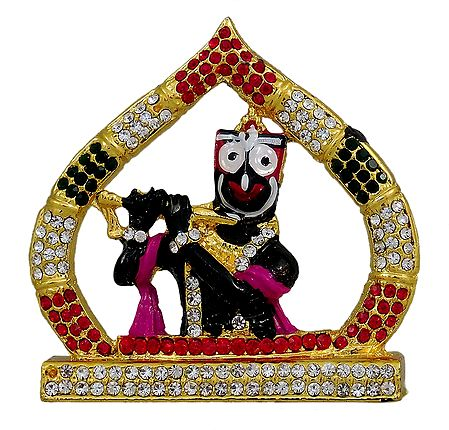 Jagannathdev as Krishna Playing Flute for Car Dashboard