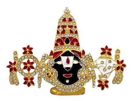 Stone Studded and Gold Plated Balaji
