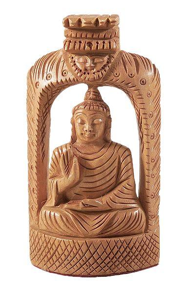Meditating Wooden Buddha