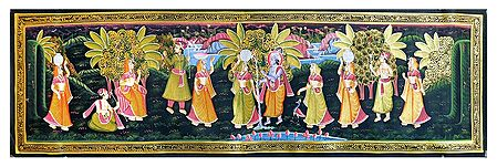 Krishna Breaking Milk Pot of Radha