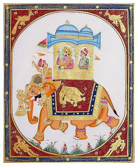 King on Royal Elephant