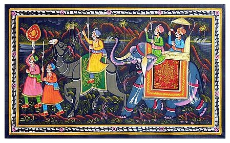 King Riding on a Elephant