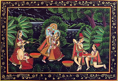 Radha Krishna Enjoying the Festival of Holi