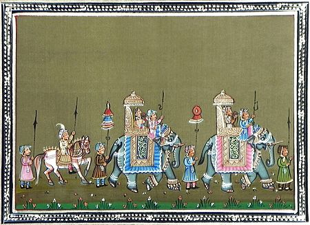 King and Queen in a Procession