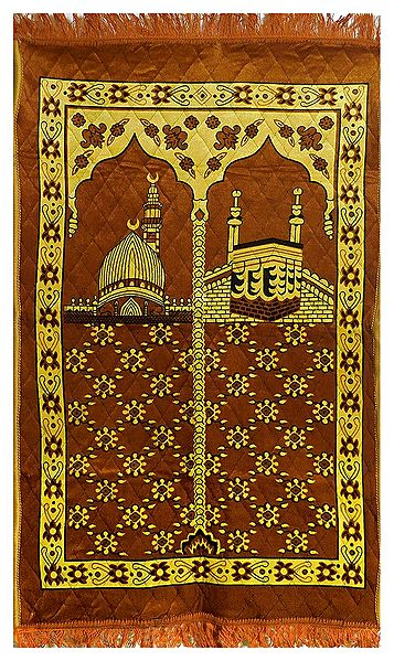 Brown Velvet Islamic Namaz Mat