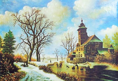 Winter in European Countryside