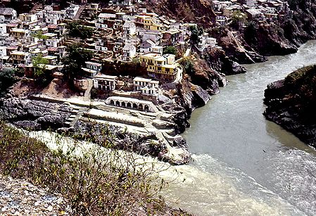 Confluence of Bhagirathi and Alakananda River, Uttarakhand, India