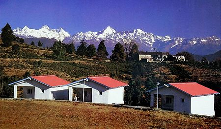 Himalayan View from Choukori - Uttarakhand, India - Photo by D. S. Bisht