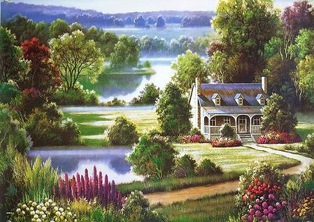 A Beautiful House Amidst Nature