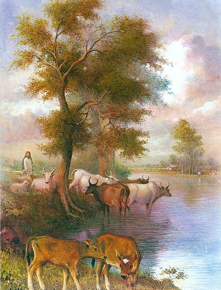 Cowherd with Cows