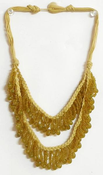 Methi Yellow Beaded Necklace