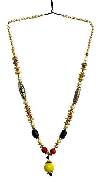 Multicolor Wheel Bead Necklace