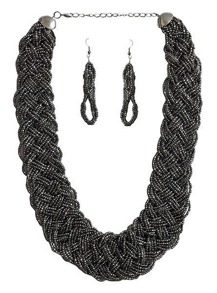 Designer Bead Necklace and Earrings