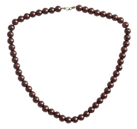 Copper Color Bead Necklace