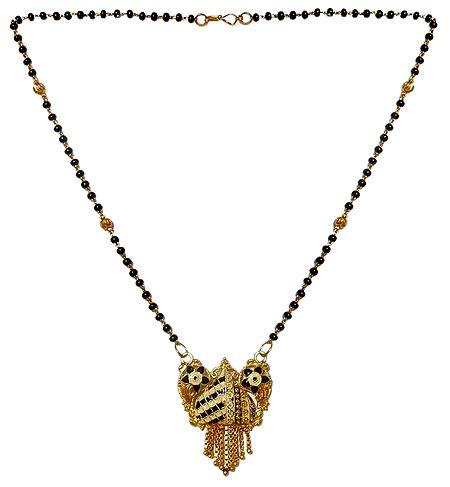 Black Bead Mangalsutra with Pendant
