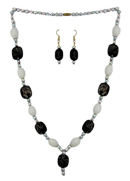 Bead Necklace with Earrings