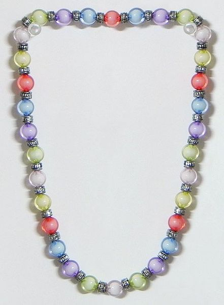 Multicolor Acrylic Bead Stretch Necklace