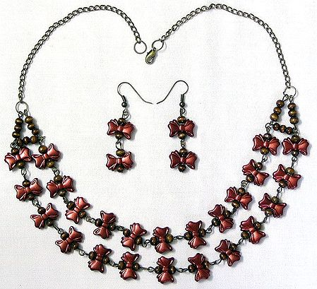 Designer Necklace with Earrings