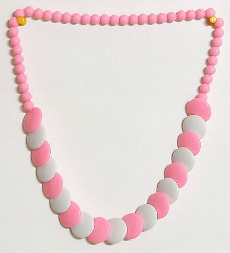 Light Pink and White Bead Necklace