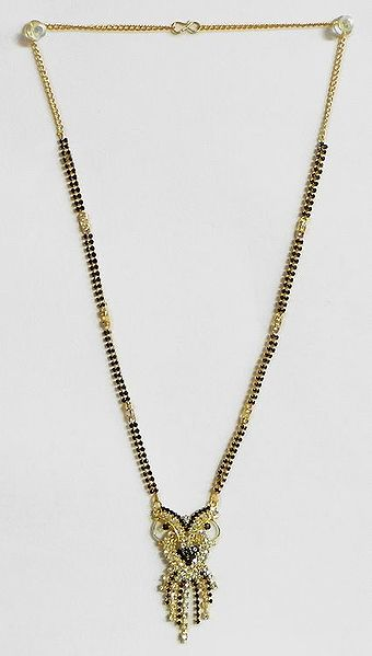 Stone Studded and Gold Plated Mangalsutra