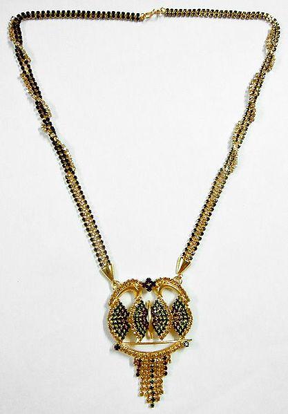 Stone Studded Mangalsutra with Gorgeous Pendant
