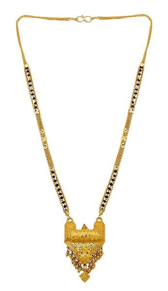 Gold Plated Mangalsutra with Designer Pendant