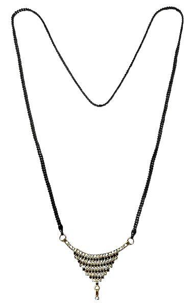 Mangalsutra with Stone Studded Pendant