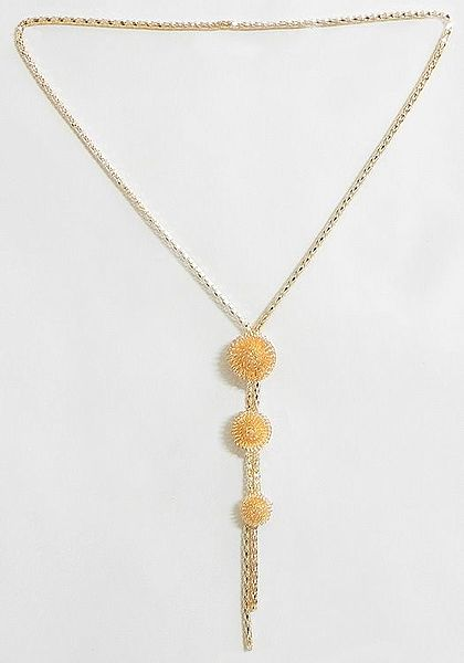 Light Peach Color Metal Necklace