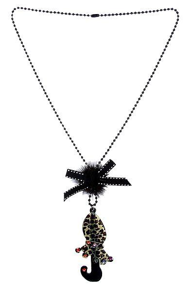 Black Acrylic Necklace