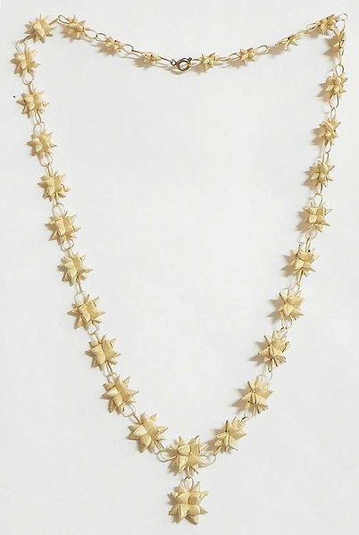 Weaved Palm Leaf Necklace