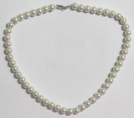 Faux Pearl Bead Necklace