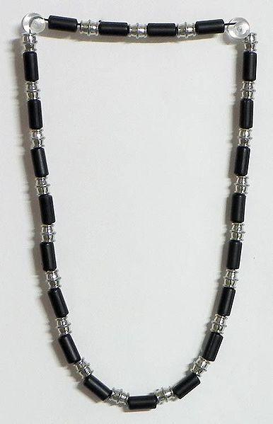Black Bead Stretch Necklace