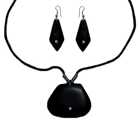 Black Wooden Adjustable Necklace