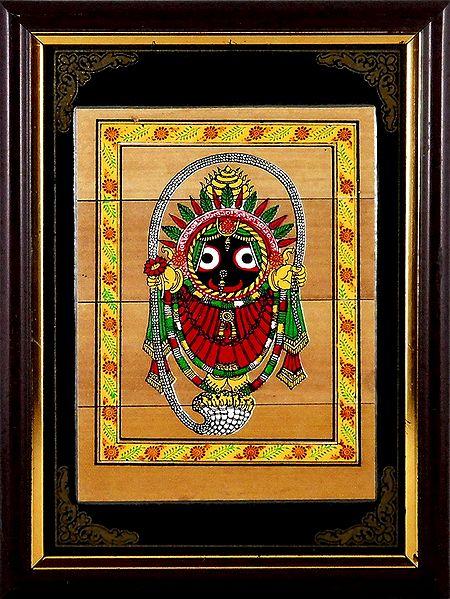 Lord Jagannath - Patachitra on Palm Leaf