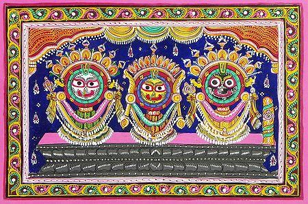 Lord Jagannath in Raja Vesha (King's Costume)
