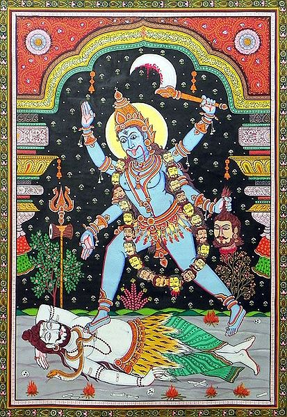 Kali - The Fierce Warrior and Shiva's Shakti