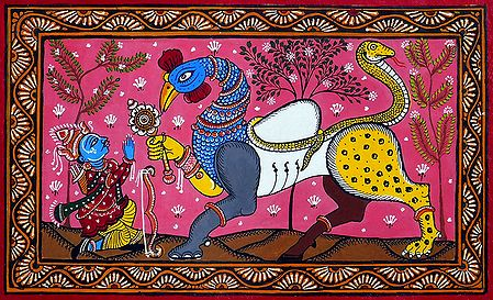 Arjuna Bows to Navagunjara