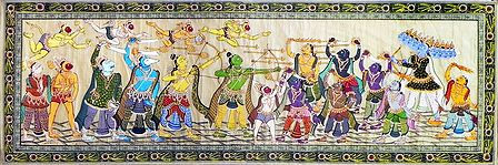 Battle Scene Between Lord Rama and Ravana From Ramayana