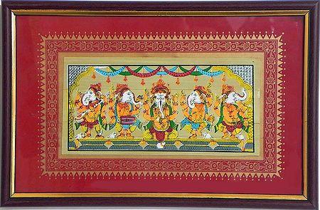 Five Musician Ganesha