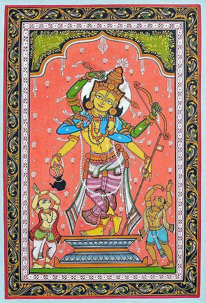 A Composite Image of Rama and Krishna